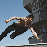 David Belle in uno Speed Vault