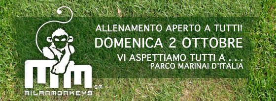 Allenamento aperto domenica 2 ottobre - Largo Marinai d'Italia